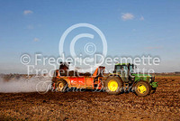Tractor spreading muck 1